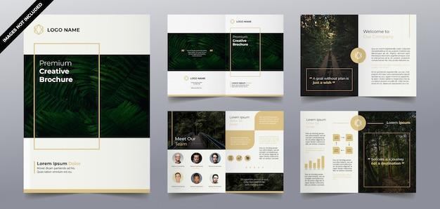 Moderne eenvoudige natuur brochure sjablonen Premium Vector