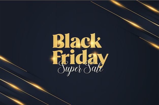 Moderne elegante black friday-banner met abstracte bannerachtergrond Gratis Vector
