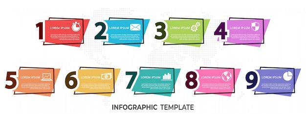 Moderne elementen infographic Premium Vector