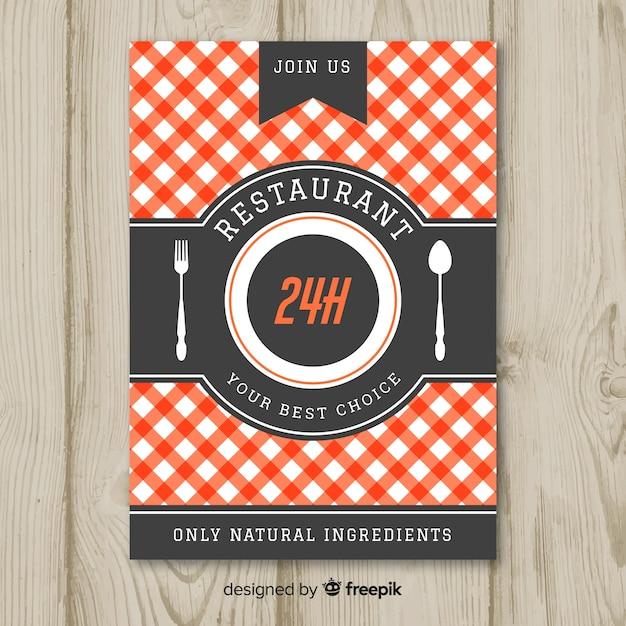 Moderne gastronomische restaurant flyer sjabloon Gratis Vector