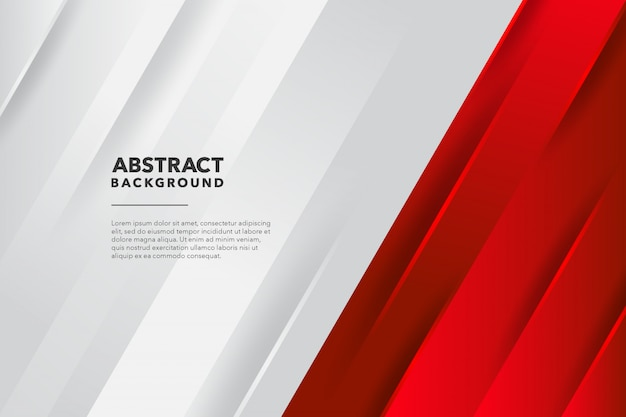 Moderne geometrische abstracte rode witte achtergrond Premium Vector