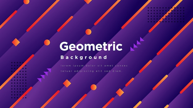Moderne geometrische achtergrond Premium Vector