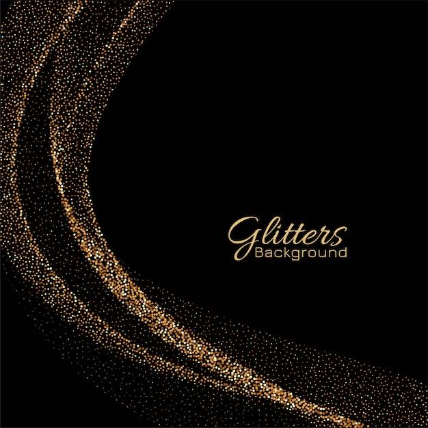 Moderne gouden sparkles elegante vector achtergrond Gratis Vector