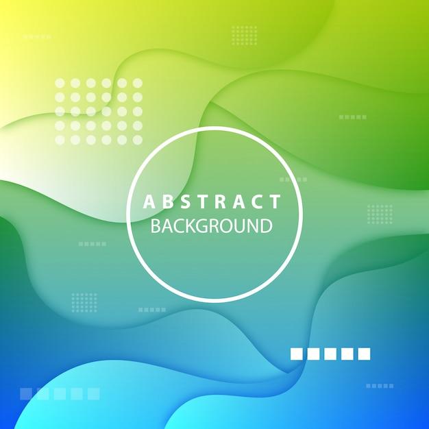 Moderne groene achtergrond van abstracte vormen Premium Vector