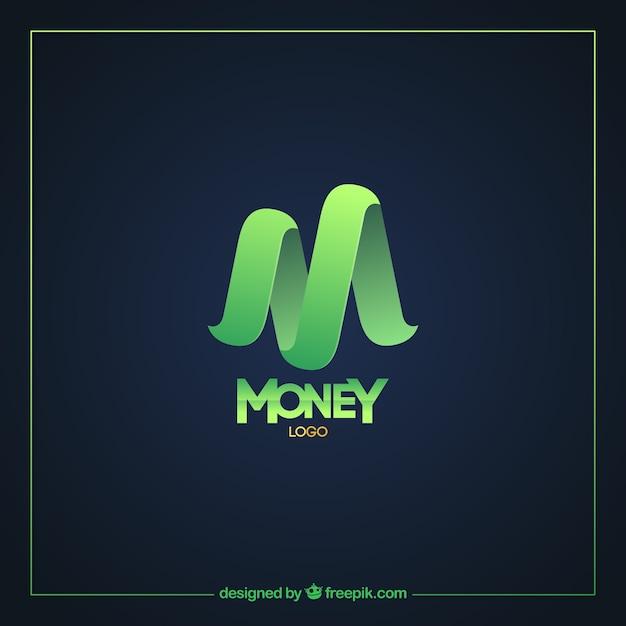 Moderne groene geld logo sjabloon Gratis Vector
