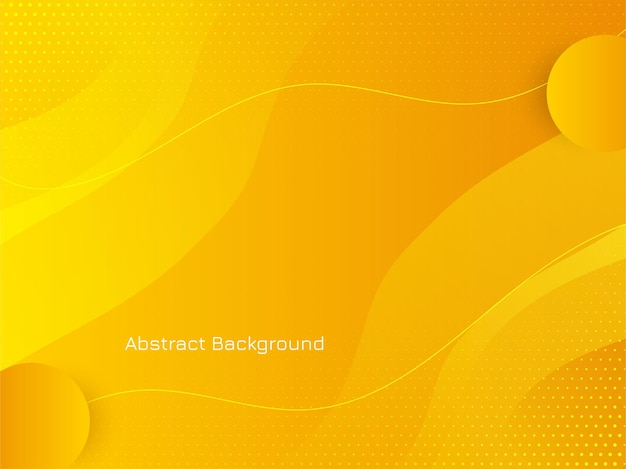 Moderne heldere gele kleur golfstijl achtergrond vector Gratis Vector