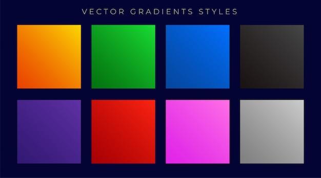 Moderne heldere kleurrijke verlopen instellen Gratis Vector