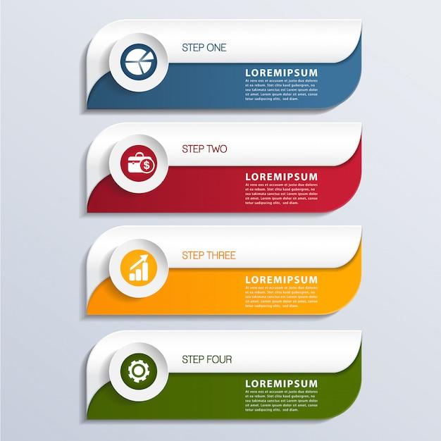 Moderne infographic elementbanner Premium Vector
