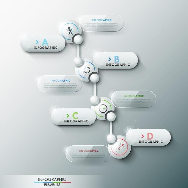 Moderne infographic optiebanner met 3d cirkels Premium Vector