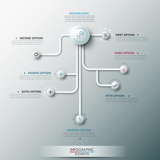 Moderne infographic optiebanner Premium Vector