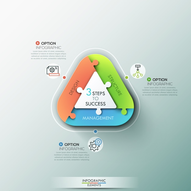 Moderne infographic opties banner. Premium Vector