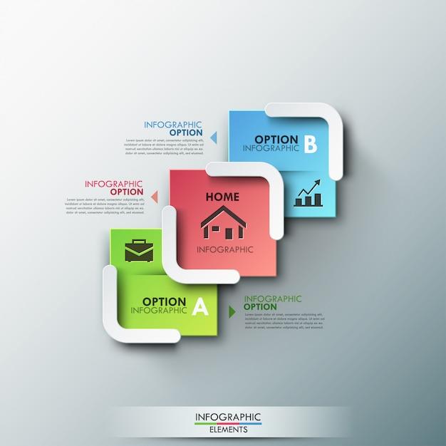 Moderne infographic optiesbanner Premium Vector