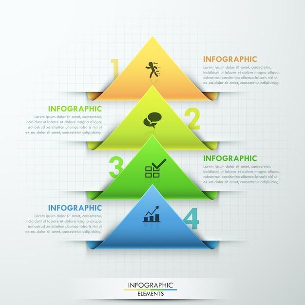 Moderne infographic optiesjabloon Premium Vector