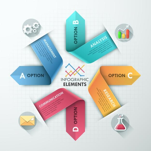 Moderne infographics opties banner Premium Vector