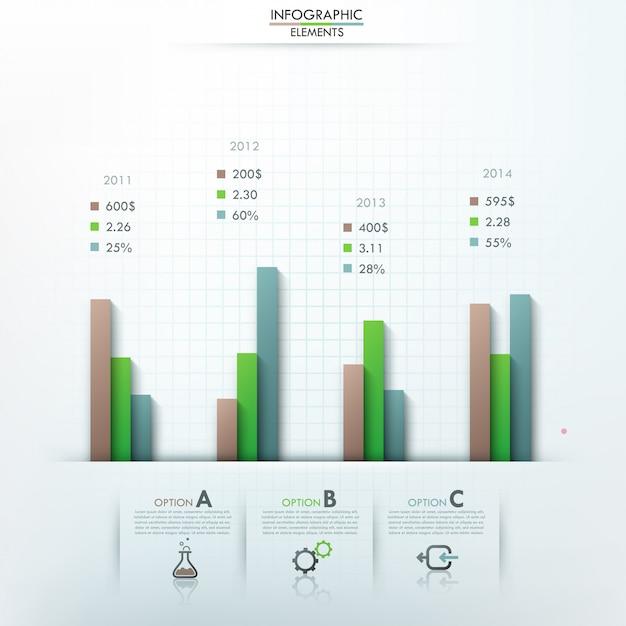 Moderne infographics opties sjabloon Premium Vector