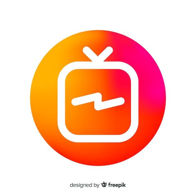 Moderne instagramsamenstelling met gradiëntstijl Gratis Vector