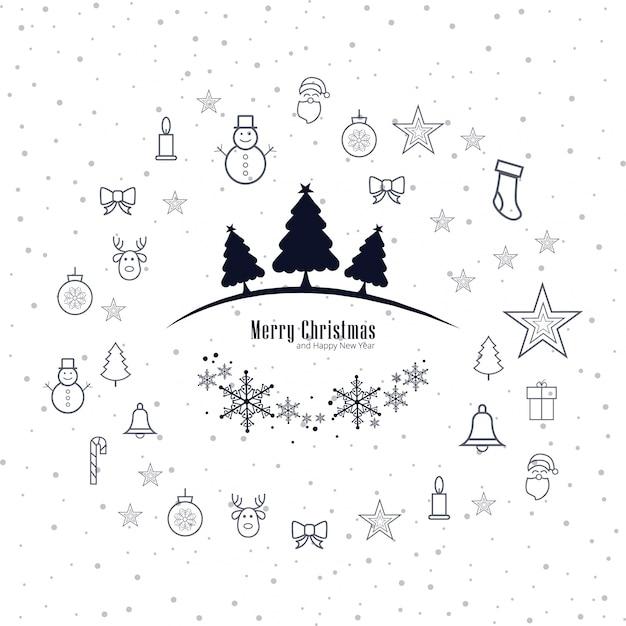 Moderne Kerst Achtergrond Vector Gratis Download