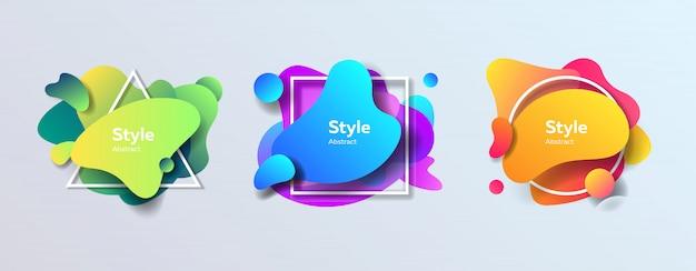 Moderne kleurrijke abstracte figuren Gratis Vector