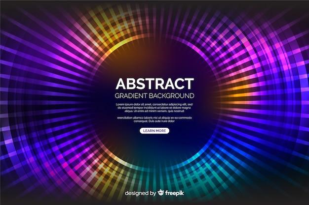 Moderne kleurrijke cirkelsachtergrond Gratis Vector