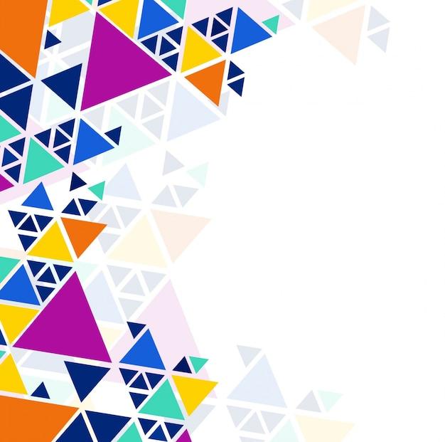 Moderne kleurrijke geometrische achtergrond Gratis Vector