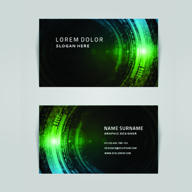 Moderne kleurrijke zakenkaart Premium Vector