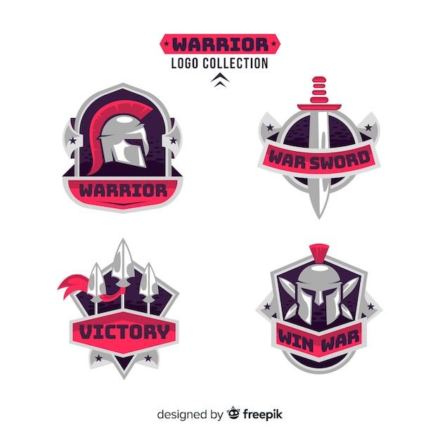 Moderne krijger sport logo collectie Gratis Vector