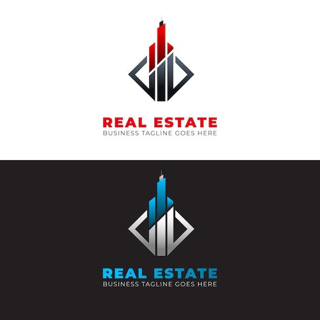 Moderne landgoed logo sjabloon met elementen Premium Vector