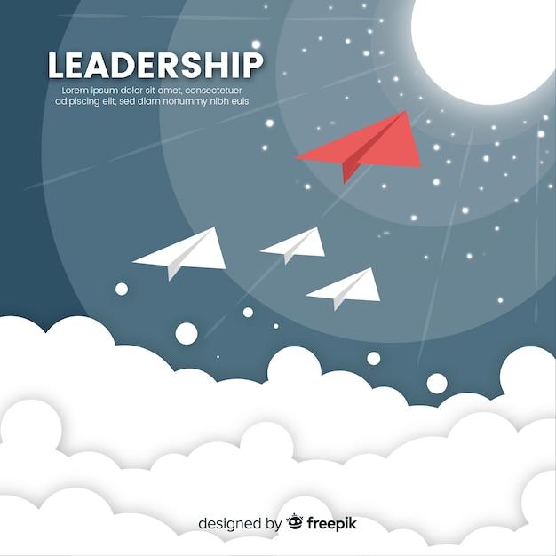 Moderne leiderschapscompositie Gratis Vector