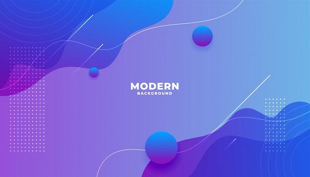 Moderne levendige vloeiende verloop achtergrond met curve vormen Gratis Vector