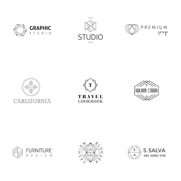 Moderne logo collectie Gratis Vector