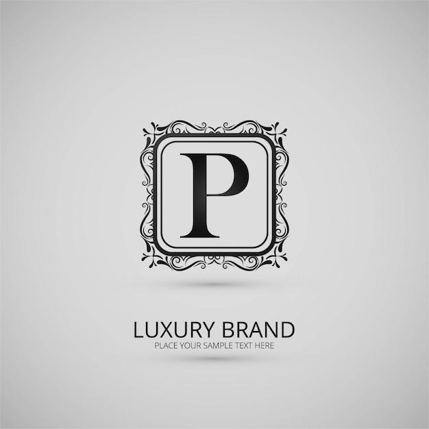Moderne luxe logo achtergrond Gratis Vector