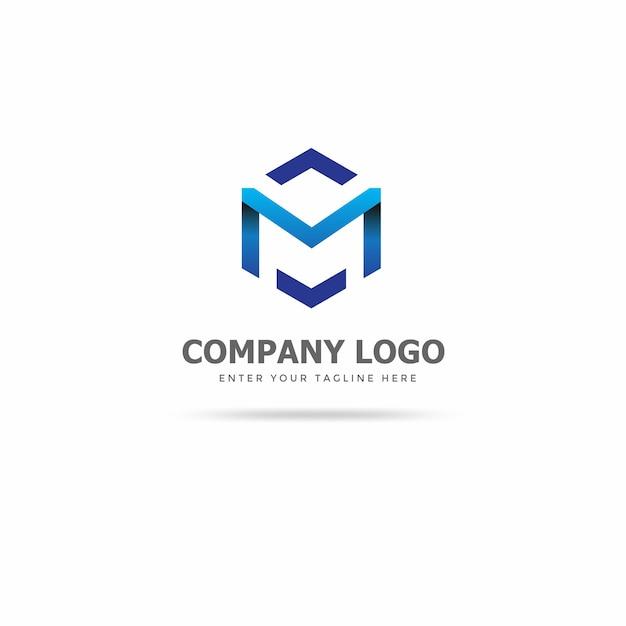 Moderne m logo ontwerpsjabloon Premium Vector
