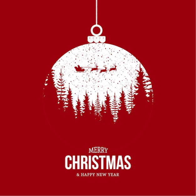 Moderne merry christmas achtergrond met modern design Gratis Vector