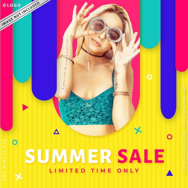 Moderne mode verkoop banner Premium Vector