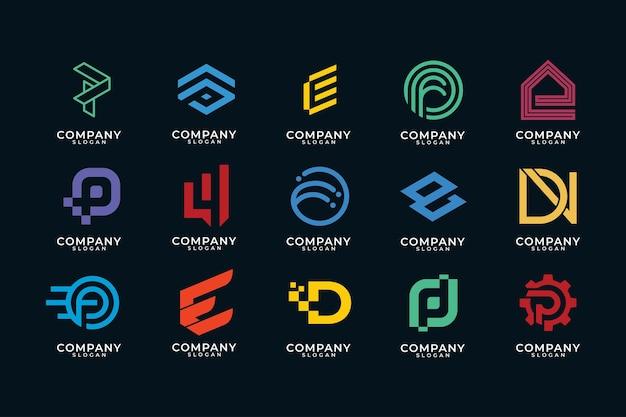 Moderne monogram logo-collectie Premium Vector