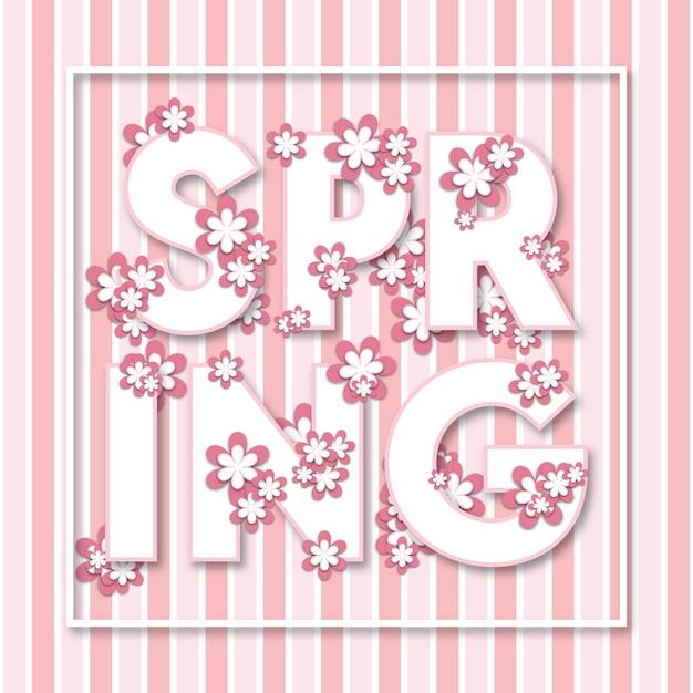 Moderne multipurpose floral lente poster achtergrond Premium Vector