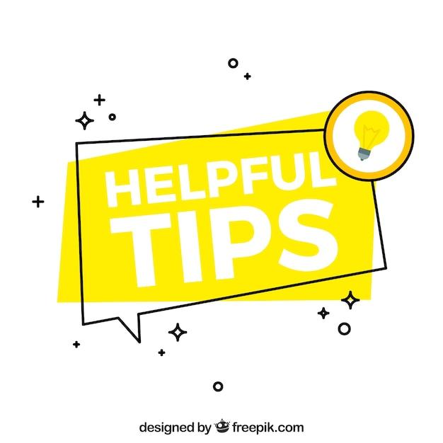 Moderne nuttige tips samenstelling met platte ontwerp Gratis Vector