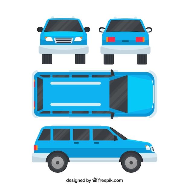 Moderne off-road auto in verschillende uitzichten Gratis Vector