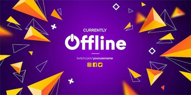 Moderne offline twitch-banner Gratis Vector