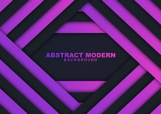 Moderne paarse en zwarte luxeachtergrond Premium Vector