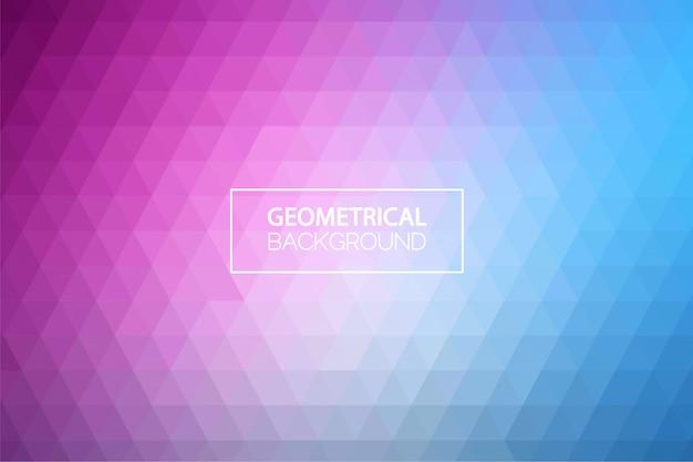 Moderne pastel gradient geometrische achtergrond Premium Vector