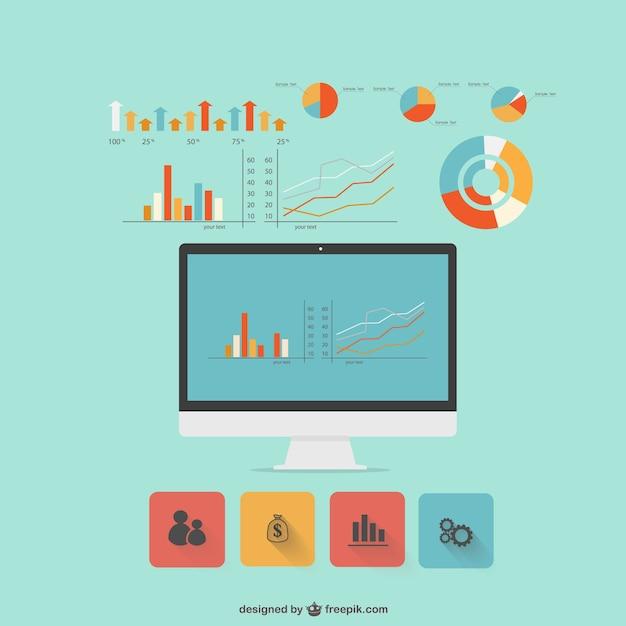 Moderne platte ontwerp infographic Gratis Vector