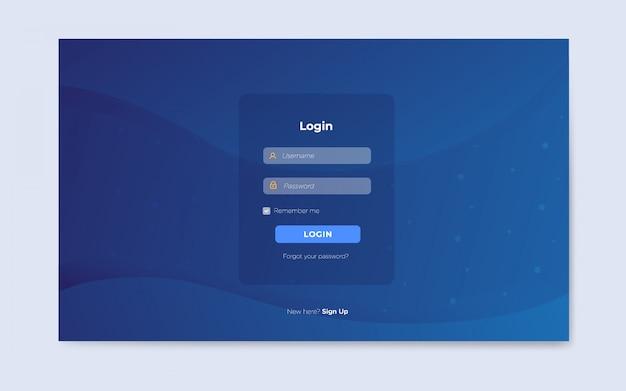Moderne platte pagina's voor webloginpagina's Premium Vector