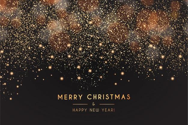 Moderne prettige kerstdagen en gelukkig nieuwjaar achtergrond Gratis Vector