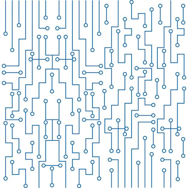 Moderne printplaat technologie achtergrond Gratis Vector