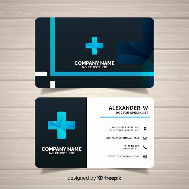 Moderne professionele medische visitekaartje concept Gratis Vector