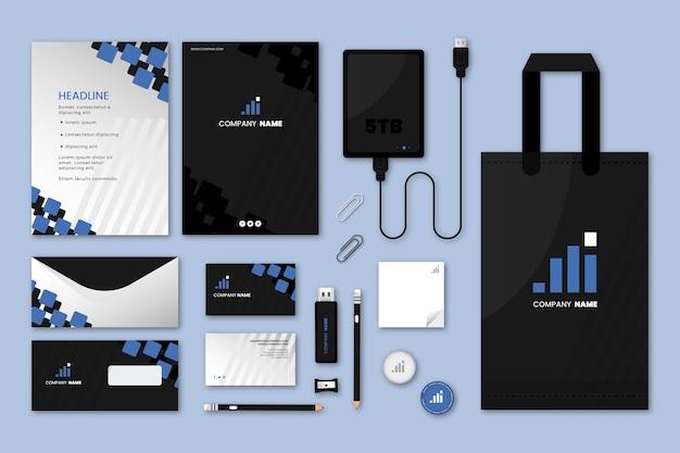 Moderne professionele zakelijke briefpapier set Premium Vector