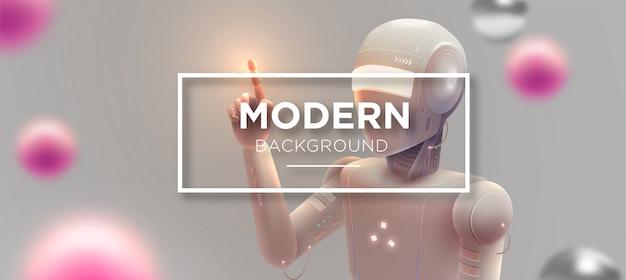 Moderne robotachtige achtergrond Premium Vector
