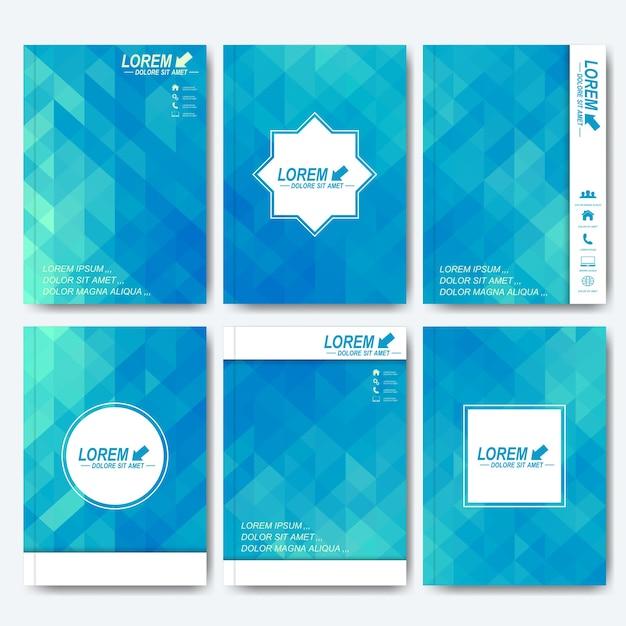 Moderne sjablonen voor brochure, flyer, omslagmagazine of rapport Premium Vector