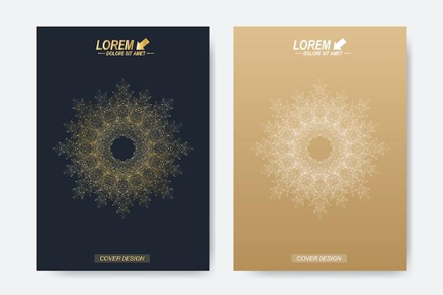 Moderne sjabloon voor brochure, folder, flyer, omslag, tijdschrift of jaarverslag. Premium Vector